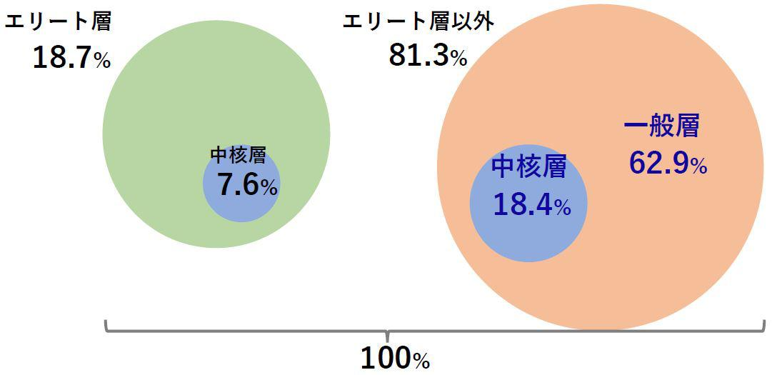 中核層年齢分布図、データ